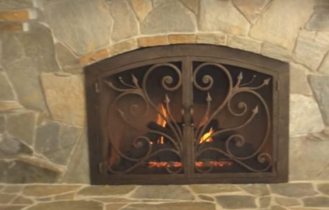 brass fireplace doors