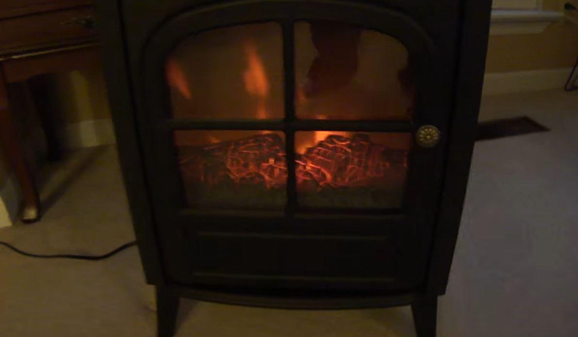 cheap fake fireplace