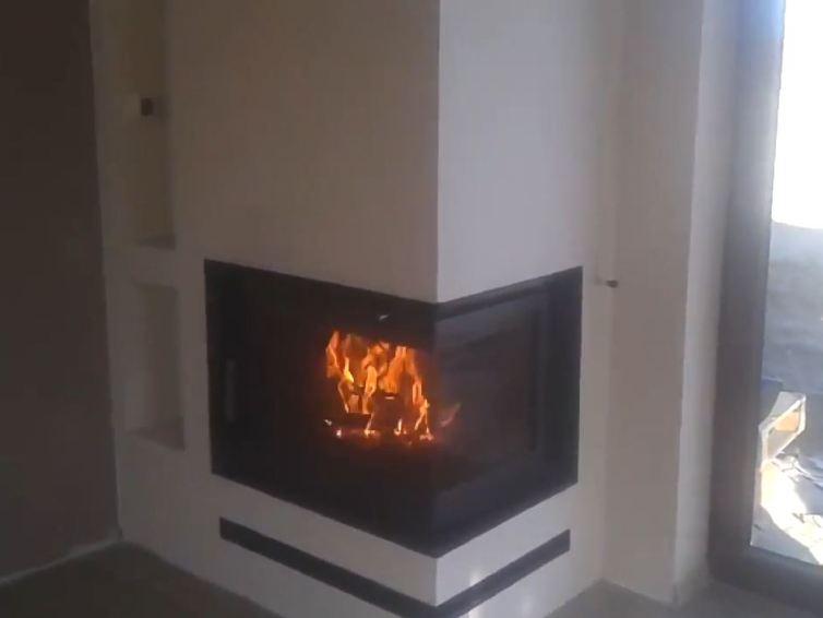 Elegant corner fireplaces