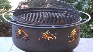 fire pit and bbq grill