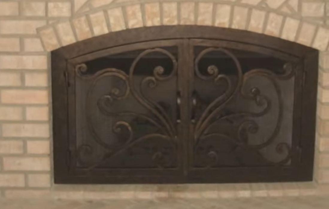 fireplace glass doors home depot  Fire pit pics