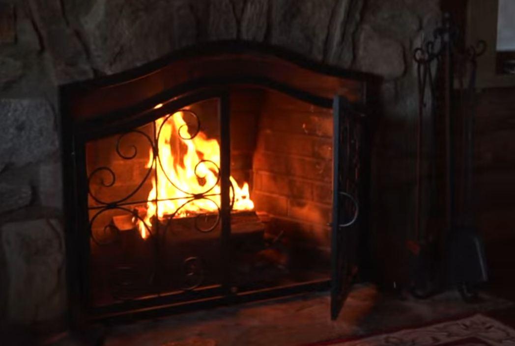 fireplace screens home depot