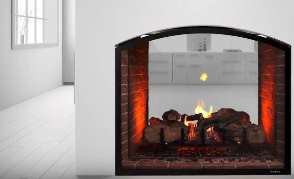 modern rustic fireplace design
