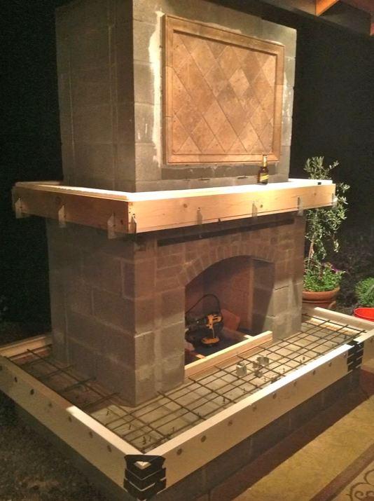 outdoor fireplace insert