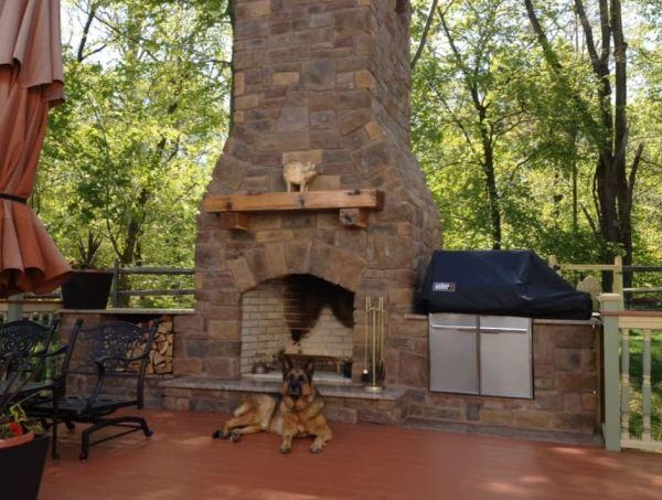outside chimney fireplace