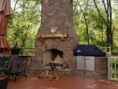 outside chimney fireplace