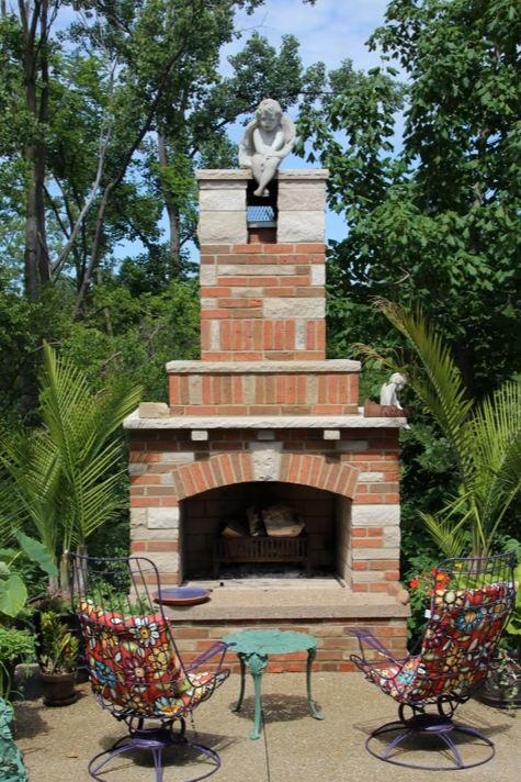 outside corner fireplace