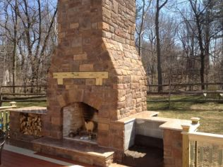 outside propane fireplace
