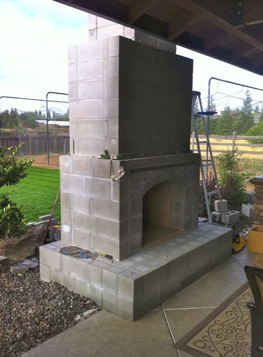 prefab outdoor fireplace