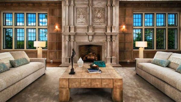 rustic fireplace design