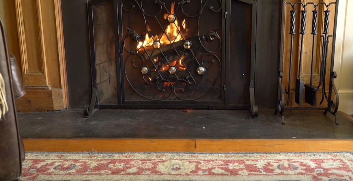 small fireplace screens