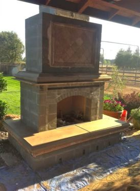 stone outside fireplace
