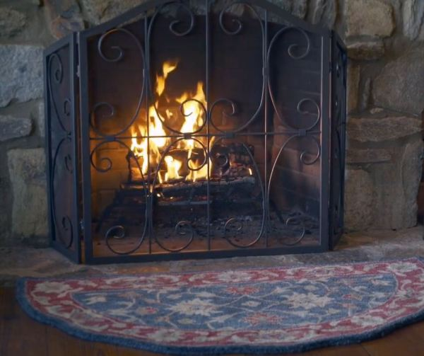 western fireplace screens