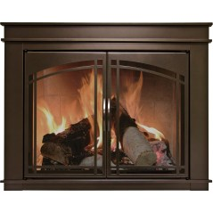 fireplace glass doors for sale_16