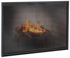 fireplace glass doors frameless_2