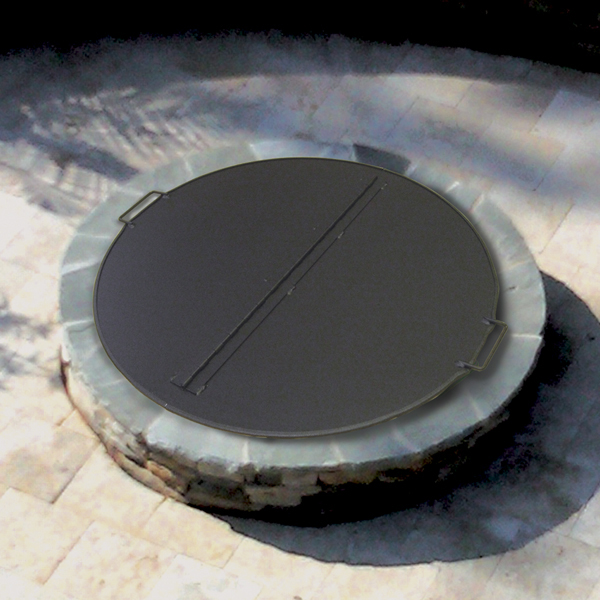 SQUARE or ROUND Folding Fire Pit Snuffer Cover