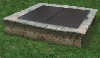 SQUARE or ROUND Folding Fire Pit Snuffer Cover ...