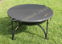 firepit flat cover - table top lid - fire pit with lid ...