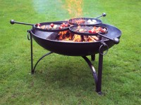Fire Pit Plain Jane 90 with Three Swing Arm BBQ Racks ...
