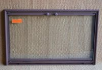 34x21 Inch Rust Shadow 3-Sided Fireplace Door