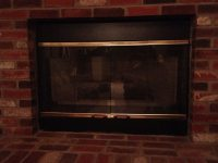 Fireplace Covers for damaged doors - Insulated Decorative ...