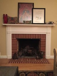 Fireplace insulating covers