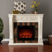 Holly & Martin Calgary Electric Fireplace-Ivory - Holly ...