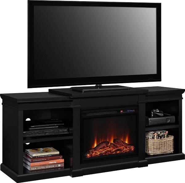 Altra Furniture Manchester TV Stand with Electric Fireplace Review