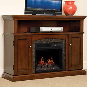 best electric fireplace tv stand Reviews-ChimneyFree Lynwood Electric Fireplace TV Stamd- 18MM4105-C233 Review