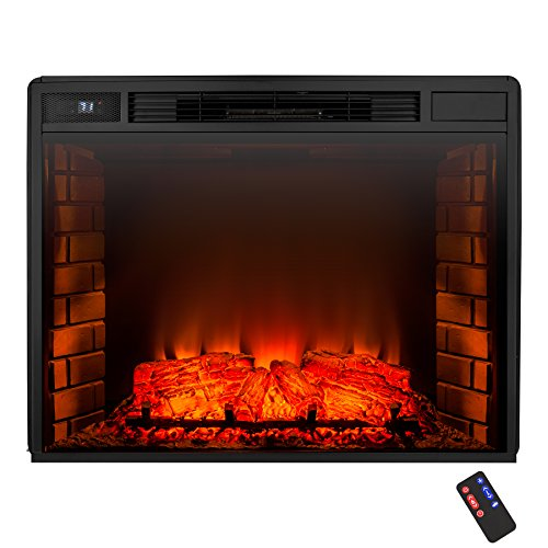 best electric fireplace heater reviews -AKDY Freestanding Electric Fireplace Heater 6 Setting Control Adjustable Remote w/ Log Set
