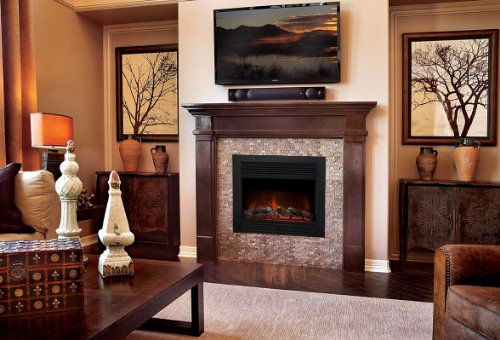 embedded electric fireplace insert heater