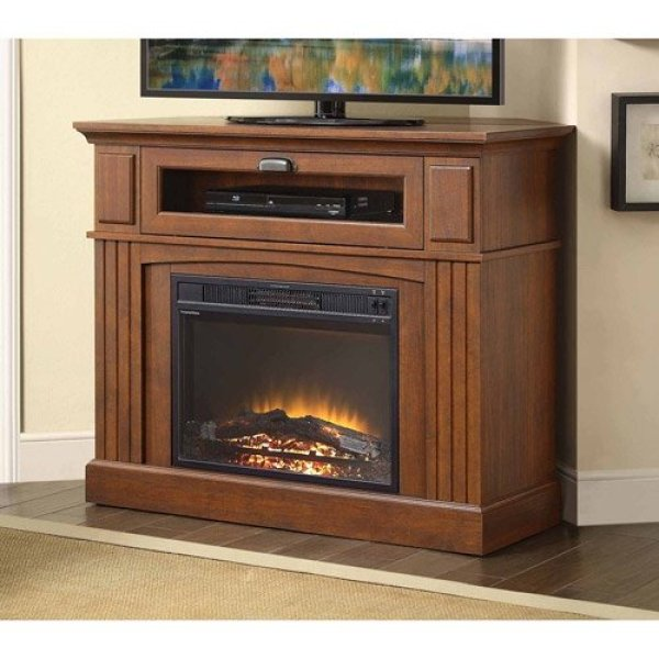 best electric fireplace tv stand Reviews-Media Fireplace TV Stand Review