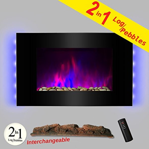 Best wall mount electric fireplace - AKDY® 36 inch LED Wall Mount Electric Fireplace