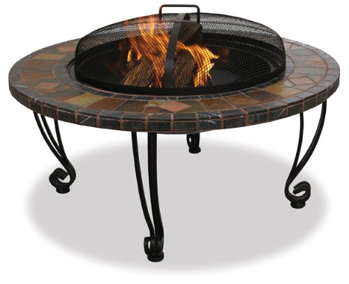Best fire pit reviews - Endless Summer, WAD820SP, 34 in. Slate & Marble Firepit with Copper Accents