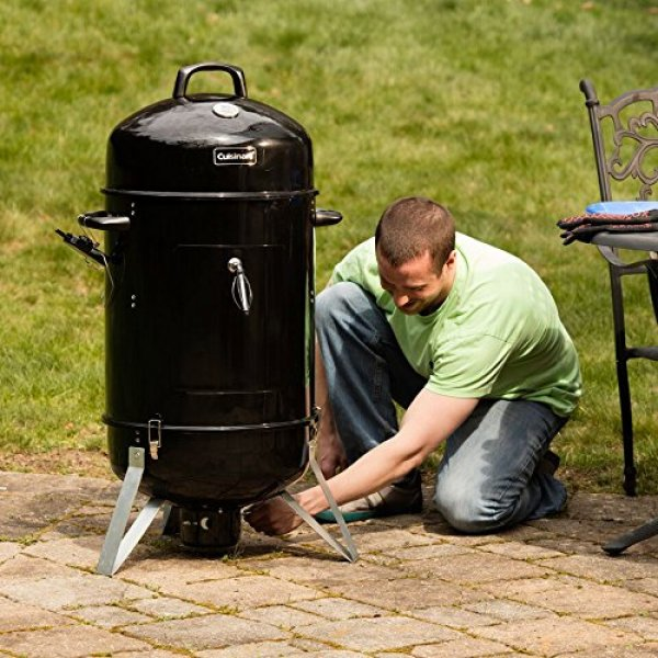 "Best Charcoal Smoker 2018: Char-Cuisinart COS-118 Vertical 18"" Charcoal Smoker"