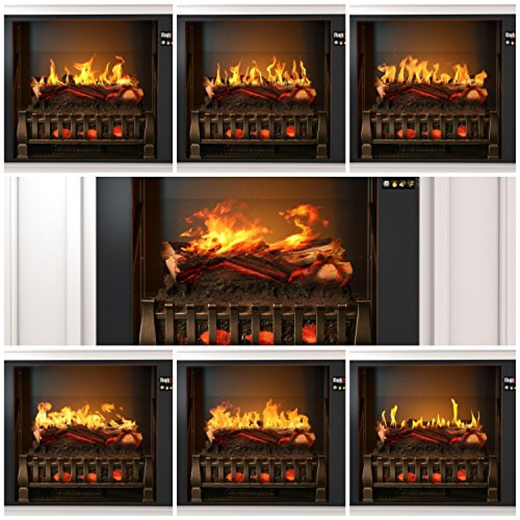 "Best wall mantel electric fireplace - The MagikFlame 28"" HoloFlame Artemis Wall Mantel Electric Fireplace Superior flame effects"