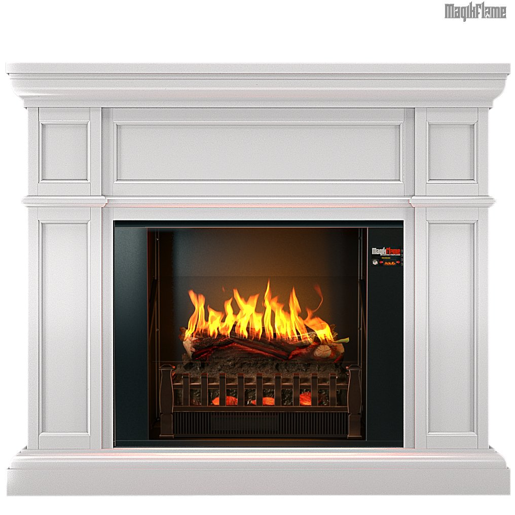 "Best wall mantel electric fireplace - The MagikFlame 28"" HoloFlame Artemis Wall Mantel Electric Fireplace Heater functions"