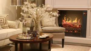 "Appearance of the MagikFlame 28"" HoloFlame Artemis Wall Mantel Electric Fireplace"