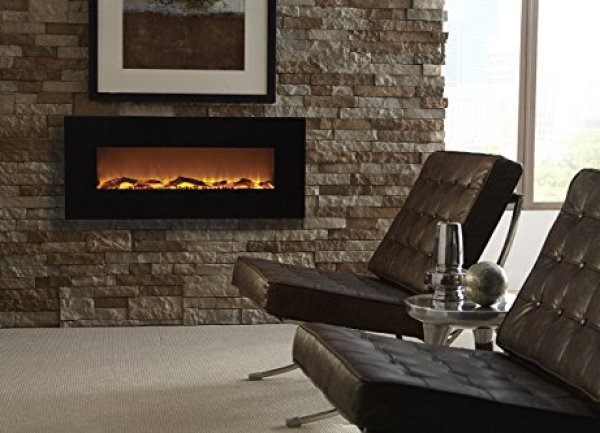 """Compare with Touchstone 80001 Onyx VS. Ollieroo 50"""" Smokeless Wall Mounted Electric Fireplace"""