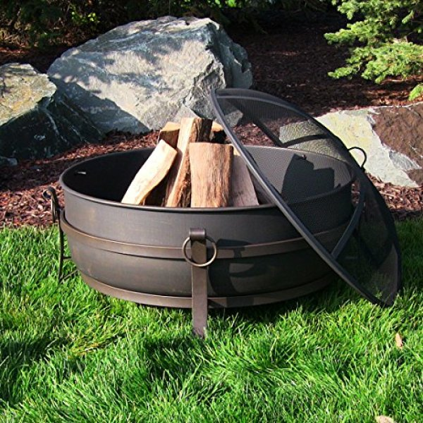 What's the disadvantage of the Sunnydaze Large Outdoor Fire Pit?