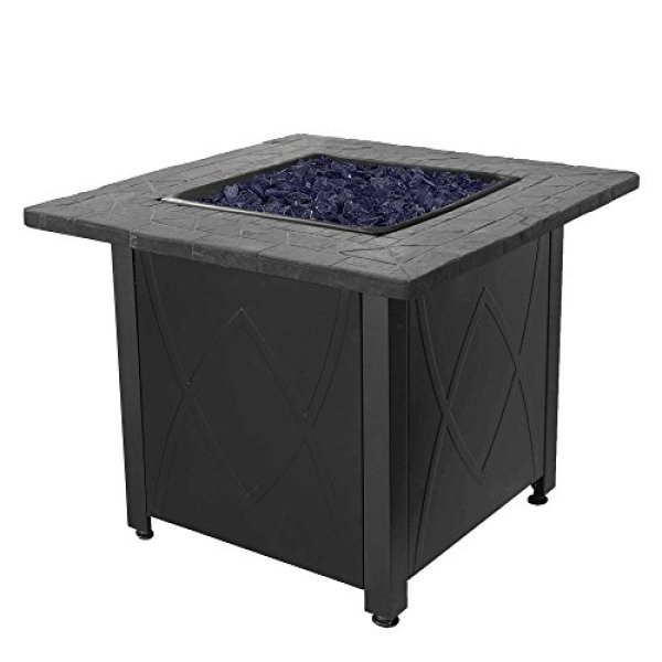 Compare with Blue Rhino Outdoor Propane Gas Fire Pit vs.Outland Living Series 401- Slate Grey Fire Table