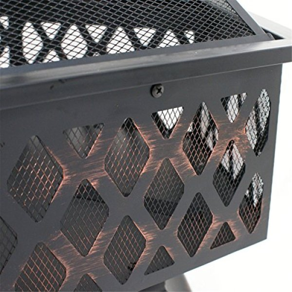 What's the disadvantage of the F2C Outdoor Hex Shape Fire Pit?