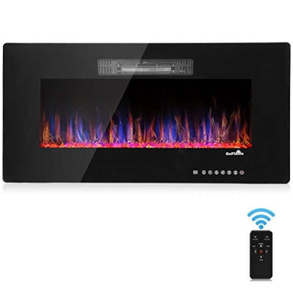 TANGKULA Wall Mount Recessed Electric Fireplace Heater Review