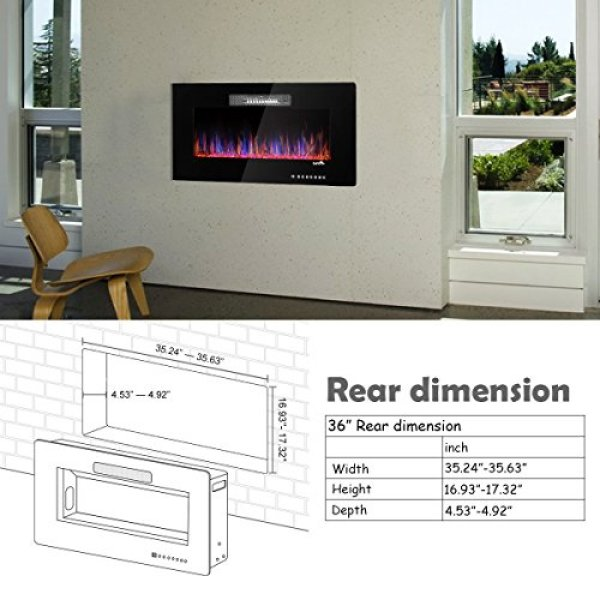 What Users Say About TANGKULA Wall Mount Recessed Electric Fireplace Heater