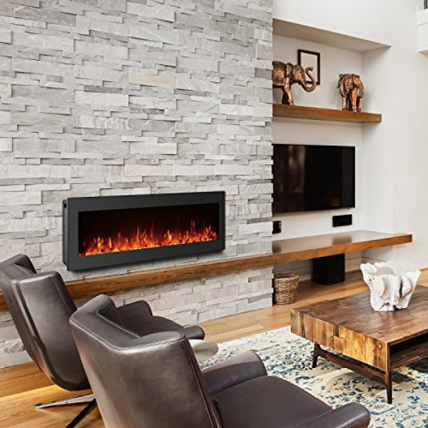 Compare GMHome Electric Fireplace vs. Valuxhome Armanni Wall Recessed Fireplace