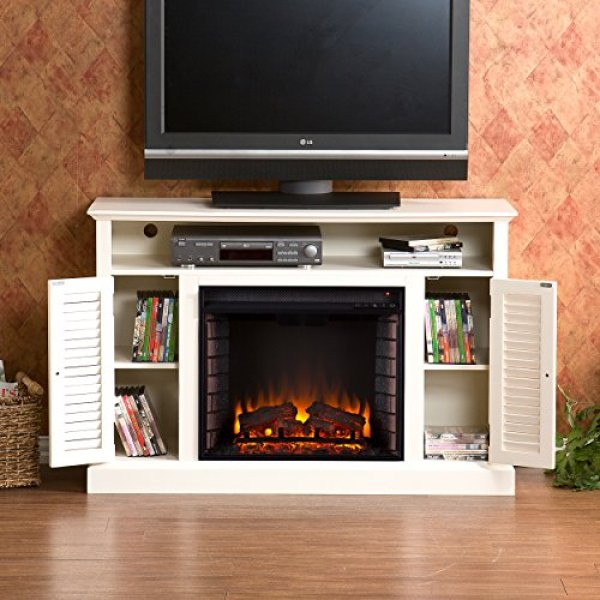 SEI Antebellum Media Console with Electric Fireplace Review