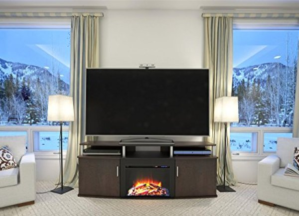 Compare Ameriwood Home Carson Fireplace TV Console vs. Ameriwood Home Lumina Fireplace TV Stand