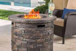 Stonecrest Patio Furniture Outdoor Propane Fire Pit Review