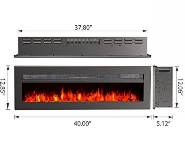 GMHome Wall Recessed Electric Fireplace - Why Should you Choose it or Not?
