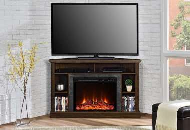 Ameriwood Home Overland Corner Electric Fireplace TV Stand Review